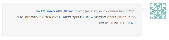 תגובית - המנצחת האמיתית היא העברית